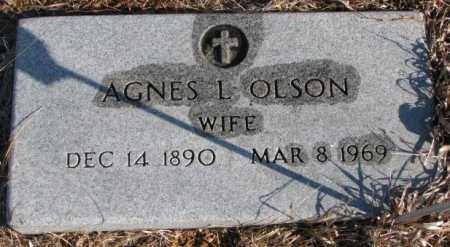 OLSON, AGNES L. - Charles Mix County, South Dakota | AGNES L. OLSON - South Dakota Gravestone Photos