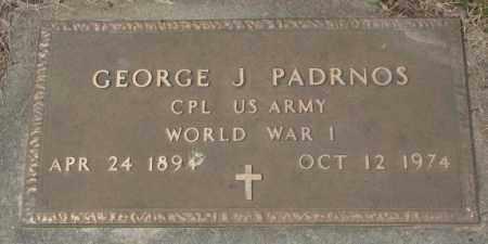 PADRNOS, GEORGE J. (WW I) - Charles Mix County, South Dakota | GEORGE J. (WW I) PADRNOS - South Dakota Gravestone Photos