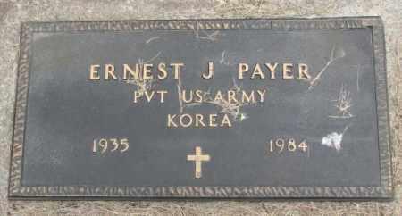 PAYER, ERNEST J. (KOREA) - Charles Mix County, South Dakota | ERNEST J. (KOREA) PAYER - South Dakota Gravestone Photos