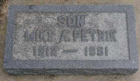 PETRIK, MIKE A. - Charles Mix County, South Dakota | MIKE A. PETRIK - South Dakota Gravestone Photos