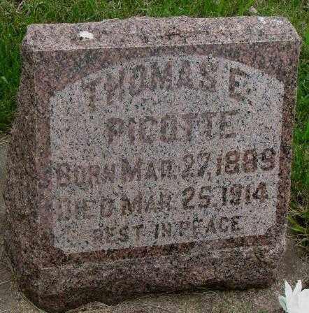 PICOTTE, THOMAS E. - Charles Mix County, South Dakota | THOMAS E. PICOTTE - South Dakota Gravestone Photos