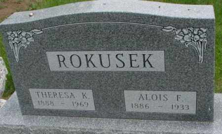 ROKUSEK, THERESA K. - Charles Mix County, South Dakota | THERESA K. ROKUSEK - South Dakota Gravestone Photos