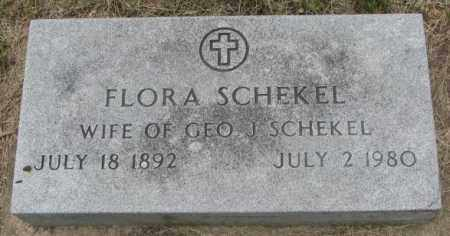 SCHEKEL, FLORA - Charles Mix County, South Dakota | FLORA SCHEKEL - South Dakota Gravestone Photos