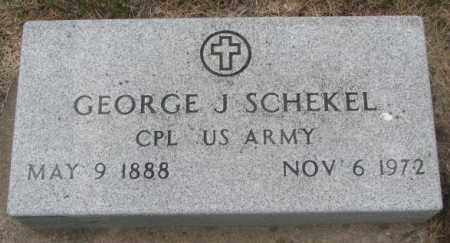 SCHEKEL, GEORGE J. - Charles Mix County, South Dakota | GEORGE J. SCHEKEL - South Dakota Gravestone Photos