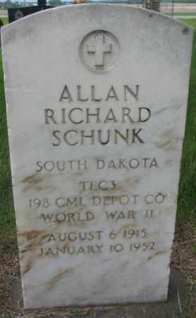 SCHUNK, ALLAN RICHARD - Charles Mix County, South Dakota | ALLAN RICHARD SCHUNK - South Dakota Gravestone Photos