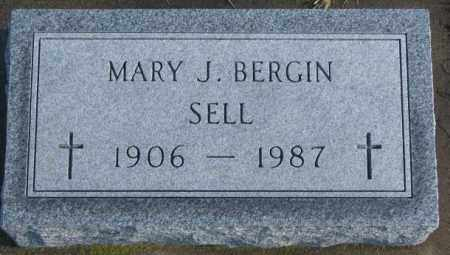 BERGIN SELL, MARY J. - Charles Mix County, South Dakota | MARY J. BERGIN SELL - South Dakota Gravestone Photos