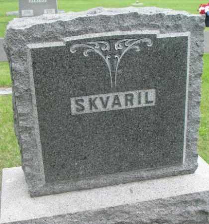 SKVARIL, FAMILY PLOT MARKER - Charles Mix County, South Dakota | FAMILY PLOT MARKER SKVARIL - South Dakota Gravestone Photos