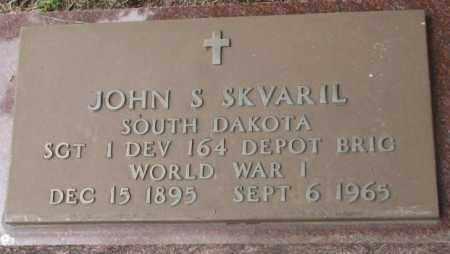 SKVARIL, JOHN S. (WW I) - Charles Mix County, South Dakota | JOHN S. (WW I) SKVARIL - South Dakota Gravestone Photos