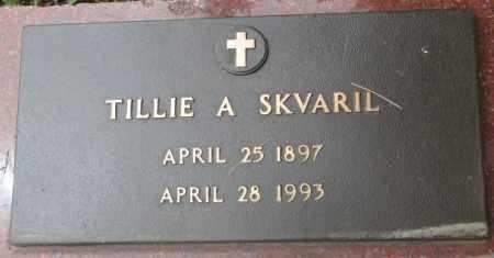 SKVARIL, TILLIE A. - Charles Mix County, South Dakota | TILLIE A. SKVARIL - South Dakota Gravestone Photos