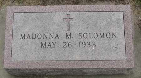 SOLOMON, MADONNA M. - Charles Mix County, South Dakota | MADONNA M. SOLOMON - South Dakota Gravestone Photos
