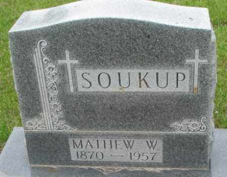SOUKUP, MATHEW W. - Charles Mix County, South Dakota | MATHEW W. SOUKUP - South Dakota Gravestone Photos