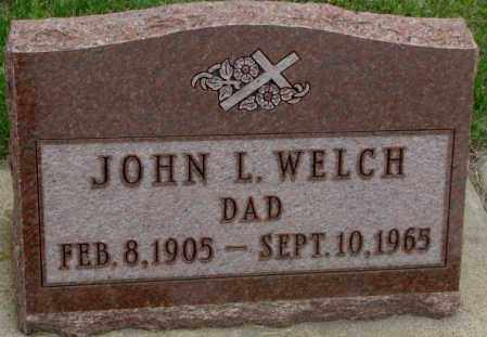 WELCH, JOHN L. - Charles Mix County, South Dakota | JOHN L. WELCH - South Dakota Gravestone Photos