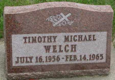 WELCH, TIMOTHY MICHAEL - Charles Mix County, South Dakota | TIMOTHY MICHAEL WELCH - South Dakota Gravestone Photos