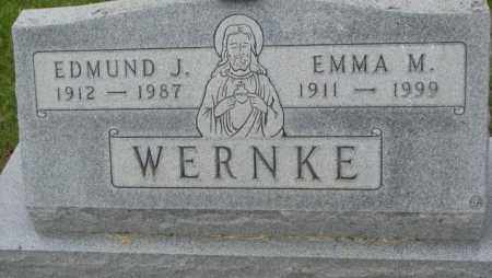 WERNKE, EDMUND J. - Charles Mix County, South Dakota | EDMUND J. WERNKE - South Dakota Gravestone Photos