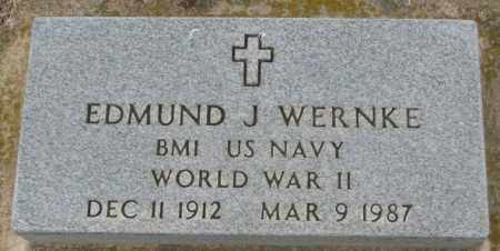 WERNKE, EDMUND J. (WW II) - Charles Mix County, South Dakota | EDMUND J. (WW II) WERNKE - South Dakota Gravestone Photos