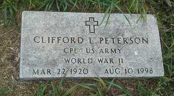"PETERSON, CLIFFORD L ""MILITARY"" - Clark County, South Dakota | CLIFFORD L ""MILITARY"" PETERSON - South Dakota Gravestone Photos"