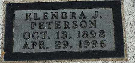 PETERSON, ELENORA J - Clark County, South Dakota   ELENORA J PETERSON - South Dakota Gravestone Photos
