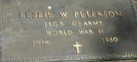 """PETERSON, LESLIE W """"MILITARY"""" - Clark County, South Dakota 