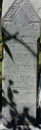 PETERSON, MRS BORRE - Clark County, South Dakota | MRS BORRE PETERSON - South Dakota Gravestone Photos