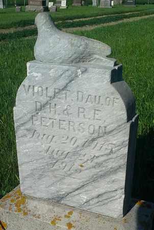 PETERSON, VIOLET - Clark County, South Dakota | VIOLET PETERSON - South Dakota Gravestone Photos