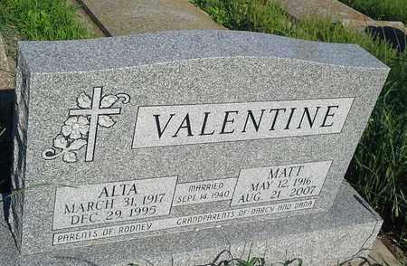 VALENTINE, ALTA - Clark County, South Dakota   ALTA VALENTINE - South Dakota Gravestone Photos