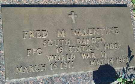 """VALENTINE, FRED M """"MILITARY"""" - Clark County, South Dakota   FRED M """"MILITARY"""" VALENTINE - South Dakota Gravestone Photos"""