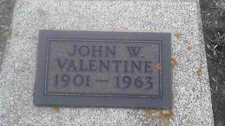VALENTINE, JOHN W - Clark County, South Dakota   JOHN W VALENTINE - South Dakota Gravestone Photos