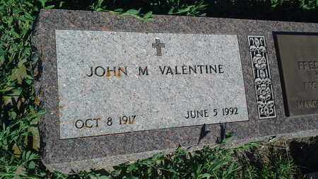VALENTINE, JOHN M - Clark County, South Dakota | JOHN M VALENTINE - South Dakota Gravestone Photos