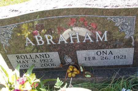 ABRAHAM, ROLLAND - Clay County, South Dakota | ROLLAND ABRAHAM - South Dakota Gravestone Photos