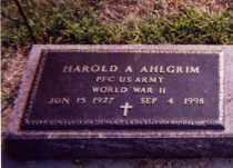 AHLGRIM, HAROLD A. - Clay County, South Dakota | HAROLD A. AHLGRIM - South Dakota Gravestone Photos