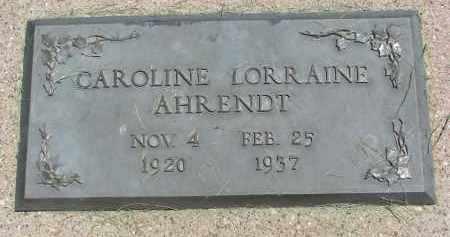 AHRENDT, CAROLINE LORRAINE - Clay County, South Dakota   CAROLINE LORRAINE AHRENDT - South Dakota Gravestone Photos
