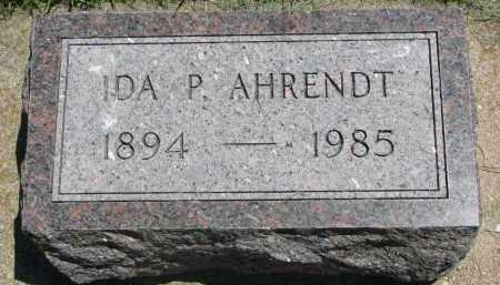 AHRENDT, IDA P. - Clay County, South Dakota   IDA P. AHRENDT - South Dakota Gravestone Photos