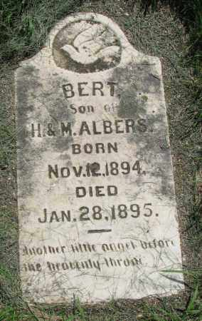 ALBERS, BERT - Clay County, South Dakota | BERT ALBERS - South Dakota Gravestone Photos