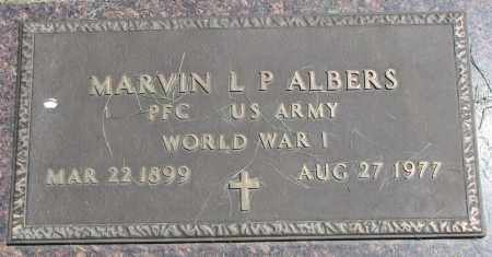 ALBERS, MARVIN L.P. (WW I) - Clay County, South Dakota | MARVIN L.P. (WW I) ALBERS - South Dakota Gravestone Photos