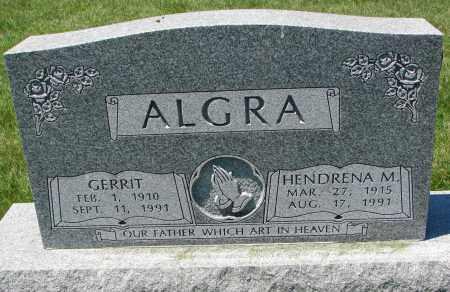 ALGRA, GERRIT - Clay County, South Dakota   GERRIT ALGRA - South Dakota Gravestone Photos
