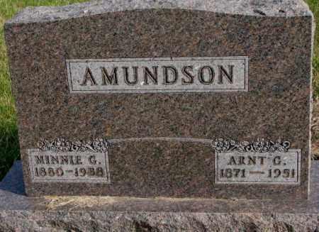 AMUNDSON, MINNIE G. - Clay County, South Dakota | MINNIE G. AMUNDSON - South Dakota Gravestone Photos
