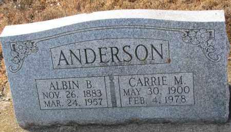 ANDERSON, ALBIN B. - Clay County, South Dakota | ALBIN B. ANDERSON - South Dakota Gravestone Photos