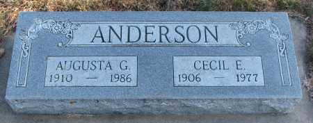 ANDERSON, AUGUSTA G. - Clay County, South Dakota | AUGUSTA G. ANDERSON - South Dakota Gravestone Photos