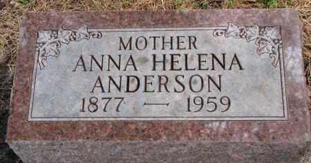 ANDERSON, ANNA HELENA - Clay County, South Dakota | ANNA HELENA ANDERSON - South Dakota Gravestone Photos