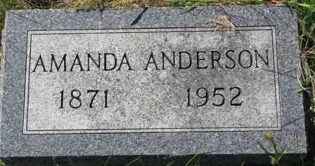 ANDERSON, AMANDA - Clay County, South Dakota   AMANDA ANDERSON - South Dakota Gravestone Photos