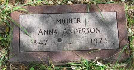 ANDERSON, ANNA - Clay County, South Dakota | ANNA ANDERSON - South Dakota Gravestone Photos