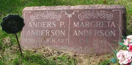 ANDERSON, MARGRETA - Clay County, South Dakota | MARGRETA ANDERSON - South Dakota Gravestone Photos