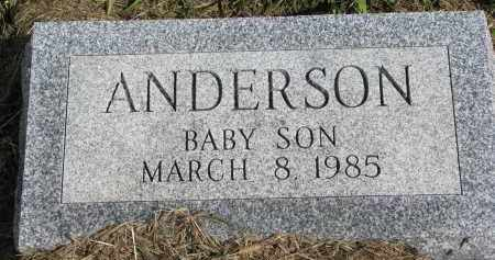 ANDERSON, BABY SON - Clay County, South Dakota   BABY SON ANDERSON - South Dakota Gravestone Photos