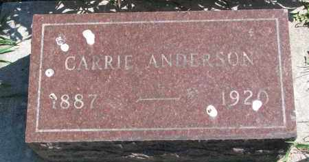 ANDERSON, CARRIE - Clay County, South Dakota | CARRIE ANDERSON - South Dakota Gravestone Photos