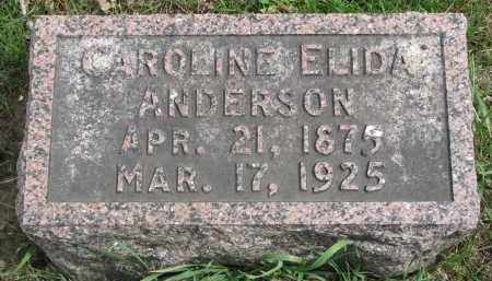 ANDERSON, CAROLINE ELIDA - Clay County, South Dakota | CAROLINE ELIDA ANDERSON - South Dakota Gravestone Photos
