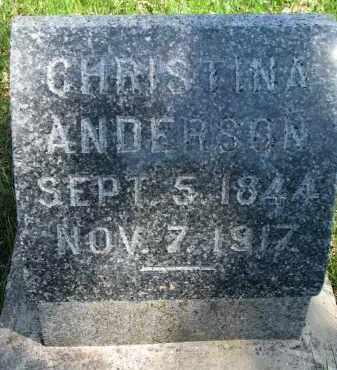 ANDERSON, CHRISTINA - Clay County, South Dakota | CHRISTINA ANDERSON - South Dakota Gravestone Photos