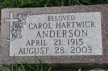 ANDERSON, CAROL - Clay County, South Dakota   CAROL ANDERSON - South Dakota Gravestone Photos