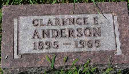 ANDERSON, CLARENCE E. - Clay County, South Dakota   CLARENCE E. ANDERSON - South Dakota Gravestone Photos