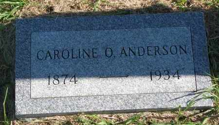ANDERSON, CAROLINE O. - Clay County, South Dakota | CAROLINE O. ANDERSON - South Dakota Gravestone Photos