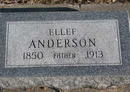 ANDERSON, ELLEF - Clay County, South Dakota   ELLEF ANDERSON - South Dakota Gravestone Photos
